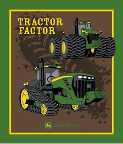 Picture of John Deere Tractor Factor Farming Large Cotton Fabric Panel