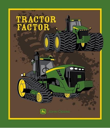 John Deere Tractor Factor Farming Large Cotton Fabric Panel