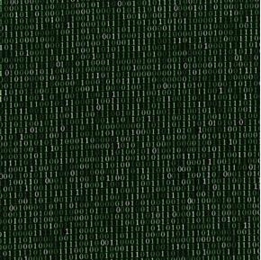Silver Circuits Binary Solo Computer Code One Zero Green Cotton Fabric