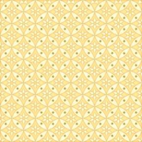 Picture of Celestial Sol Metallic Star Geometric Circles Yellow Cotton Fabric