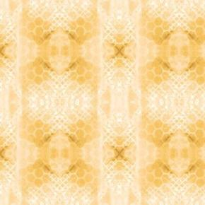 Kaleidoscope Stripes Snakeskin Pattern Butterscotch Cotton Fabric