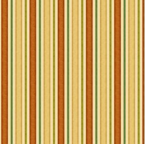 Life's A Hoot Neutral Tone Brown Green Tan Stripe Cream Cotton Fabric