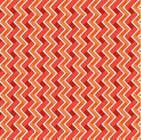 Heads Up Chevron Rust Red Orange Chevrons Cotton Fabric