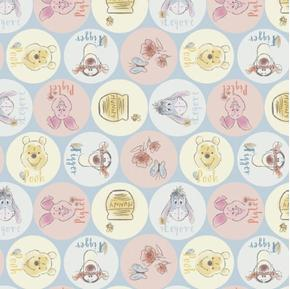 Disney Winnie the Pooh Everyday Pooh and Friends Names Cotton Fabric
