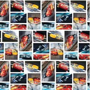 Picture of Disney Cars 3 See You on the Track Racing Patch Cotton Fabric