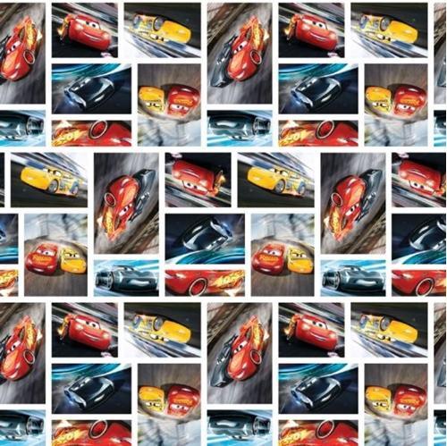Disney Cars 3 See You on the Track Racing Patch Cotton Fabric