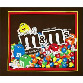 Picture of Mars Candy M & M Milk Chocolate Candies Large Cotton Fabric Panel