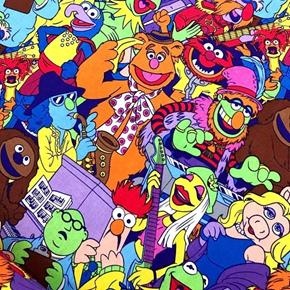 Sesame Street Muppets Packed Colorful Musical Characters Cotton Fabric