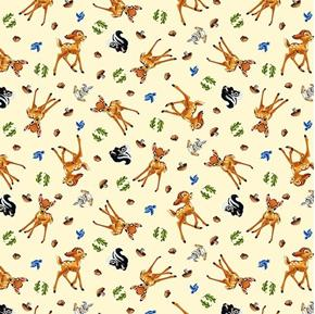 Picture of Disney Bambi and Friends Allover Thumper Flower Cotton Fabric