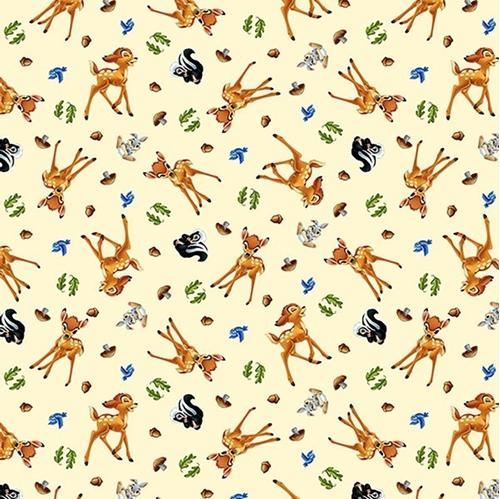 Disney Bambi and Friends Allover Thumper Flower Cotton Fabric