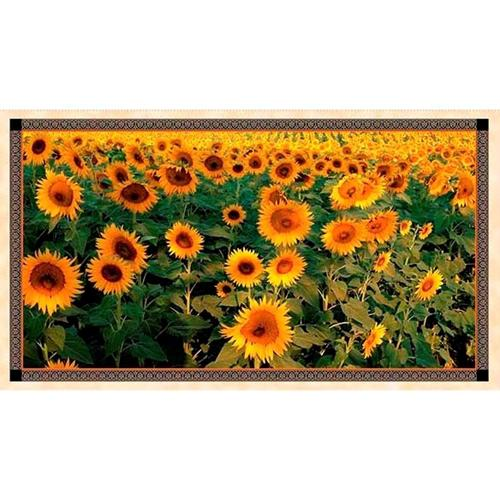 """Picture of Artworks V Tuscan Sunflower Fields 24x44"""" Digital Cotton Fabric Panel"""