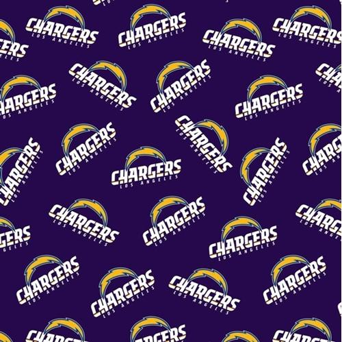 NFL Football Los Angeles Chargers 18x29 Cotton Fabric
