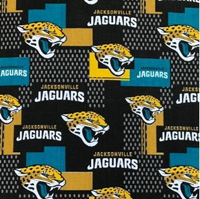NFL Football Jacksonville Jaguars 2017 Pattern 18x29 Cotton Fabric