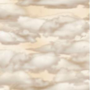 Aviator Beige Clouds in the Sky Cotton Fabric