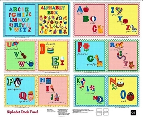 Sew and Go II Alphabet Book Cotton Fabric Craft Panel