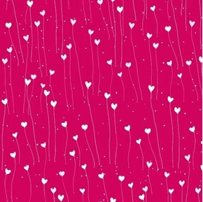 The Gift of Friendship Santoro Hearts Cherry Red Cotton Fabric