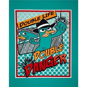 Disney Perry the Platypus Agent P Danger Large Cotton Fabric Panel
