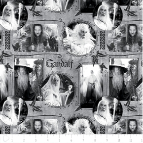 The Hobbit The Lord of the Rings Gandalf in Grey Cotton Fabric