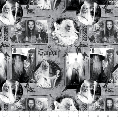 Picture of The Hobbit The Lord of the Rings Gandalf in Grey Cotton Fabric