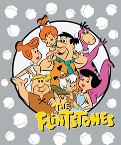 Picture of The Flintstones Prehistoric Stone Age Family Large Cotton Fabric Panel