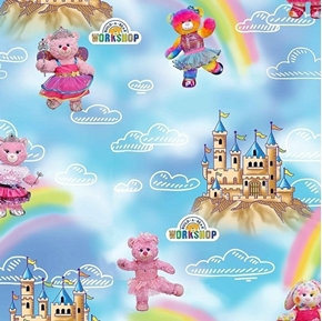 Build-A-Bear Workshop Princess Castles and Rainbows Cotton Fabric