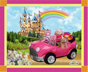 Build-A-Bear Workshop Princess Rainbow Large Cotton Fabric Panel