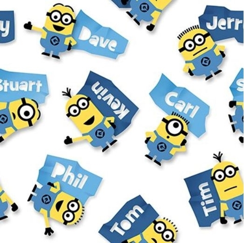 Millions of Minions Minion Name Toss Kevin Stuart Phil Cotton Fabric