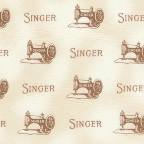 Sewing With Singer Vintage Machines Ivory Cotton Fabric