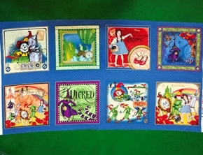 The Magic of Oz Original Artwork Blocks 24x44 Cotton Fabric Panel
