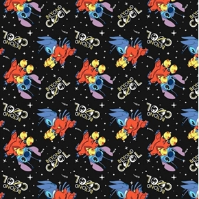 Disney Lilo Stitch Beyond Cool Stitch Space Adventure Cotton Fabric