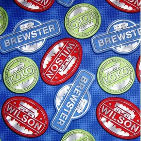 Chuggington Train Character Names Brewster Koko Wilson Cotton Fabric