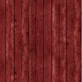 Landscape Medley Red Barn Siding Wood Planks Cotton Fabric
