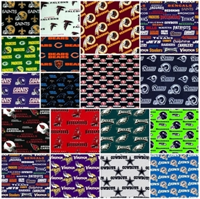 NFL Football 16 NFC Teams 9-inch Cotton Fabric Quilt Square Set