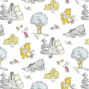 Picture of Disney Baby Pooh Nursery A Togetherish Sort of Day Cotton Fabric