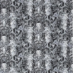 Flannel Cobra Snake Skin Pattern Grey Snakeskin Cotton Fabric