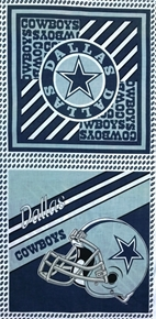 Picture of NFL Football Dallas Cowboys 17x36 OOP Cotton Fabric Pillow Panel Set