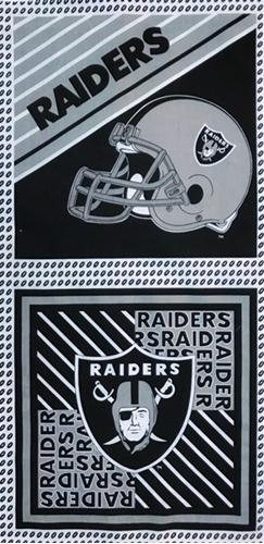 Cotton Fabric Sports Fabric Nfl Football Los Angeles Raiders