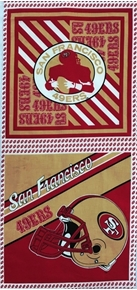 Picture of NFL Football San Francisco 49ers 17x36 Cotton Fabric Pillow Panel Set