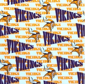 Picture of NFL Football Minnesota Vikings OOP 1999 Pattern 18X29 Cotton Fabric