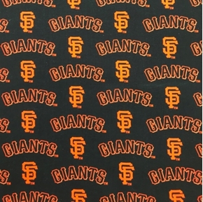 Picture of MLB Baseball San Francisco Giants OOP 2000 Pattern 18X29 Cotton Fabric