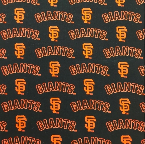 MLB Baseball San Francisco Giants OOP 2000 Pattern 18X29 Cotton Fabric