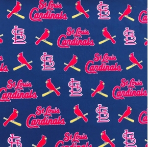 Picture of MLB Baseball St Louis Cardinals OOP 2004 Pattern 18X29 Cotton Fabric