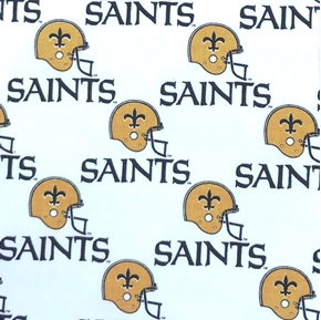 Picture of NFL Football New Orleans Saints OOP Retired Design 18X29 Cotton Fabric