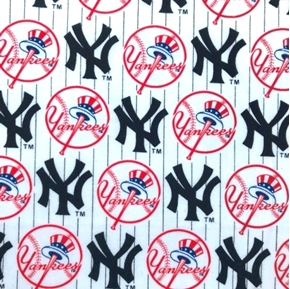 Picture of MLB Baseball New York Yankees White 2000 Pattern 18X29 Cotton Fabric