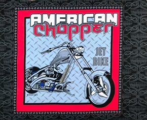 American Chopper Motorcycle Jet Bike OOP Cotton Fabric Pillow Panel