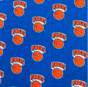 NBA Basketball Vintage New York Knicks Knickerbockers 18x29 Cotton Fabric