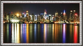 Artworks VII City Skyline NYC Digital 24x44 Cotton Fabric Panel