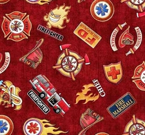 5 alarm shields firefighter hats trucks badges red cotton fabric