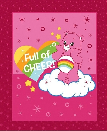 Picture of Care Bears Full of Cheer Pink Cheer Bear Cotton Fabric Pillow Panel
