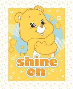 Picture of Care Bears Shine On Yellow Funshine Bear Cotton Fabric Pillow Panel